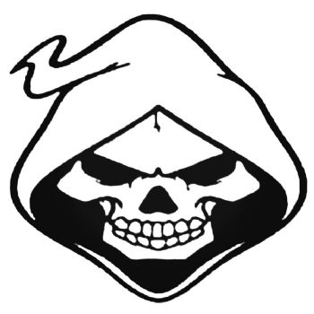 Skull Hoodie Car Stickers Motorbike Vinyl Decals Fairings Panniers